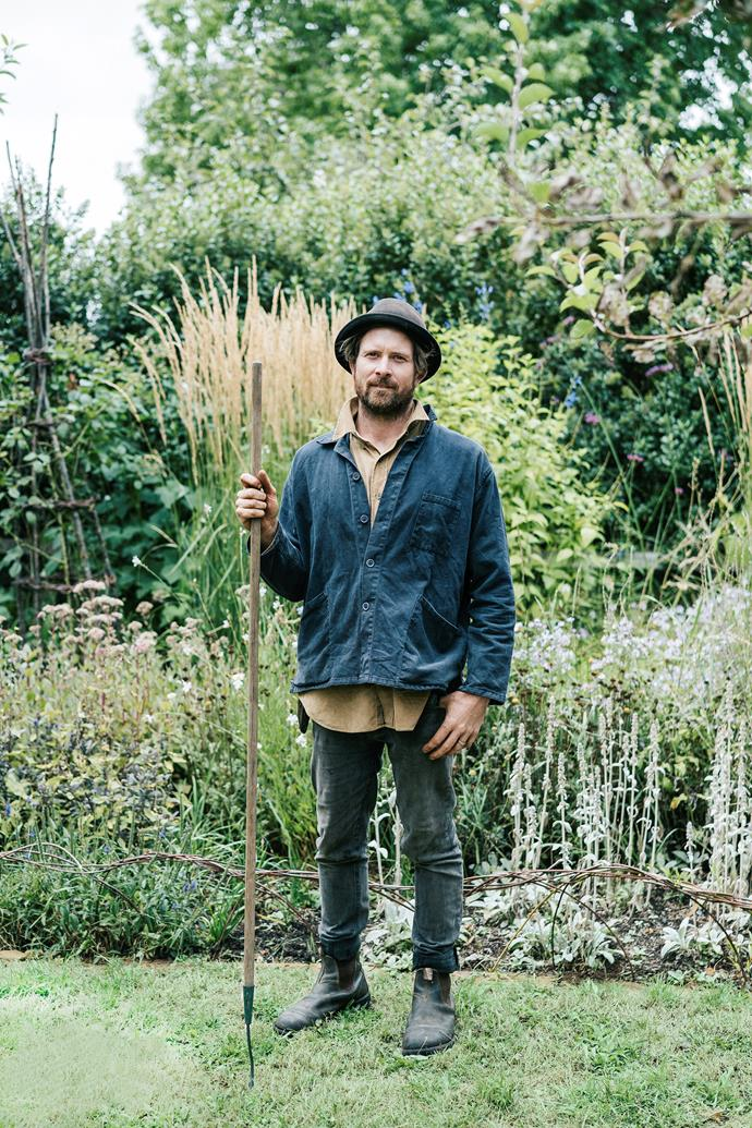 Tim Pilgrim's work is never done – he stands in front of one of the Estate's perennial borders.