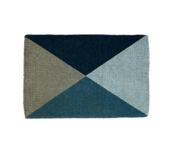 "Blue geometric flag doormat, $69.95, [Temple & Wesbter](https://www.templeandwebster.com.au/Blue-Geometric-Flag-Doormat-DMBLUEFLAG06090-FABA1353.html target=""_blank"" rel=""nofollow"")"