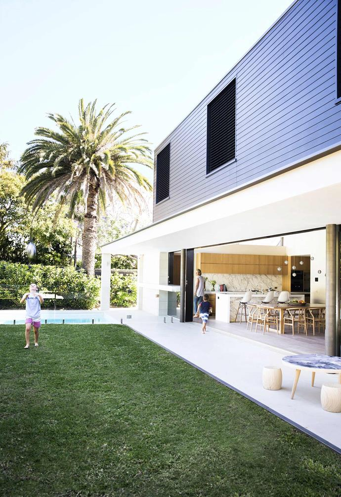 """The dramatic box extension of this [revamped Federation home](https://www.homestolove.com.au/gallery-prues-hidden-federation-gem-2581
