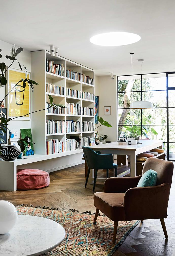 """In [Rachel Castle's colourful and quirky home](https://www.homestolove.com.au/rachel-castles-colourful-and-quirky-sydney-home-4729