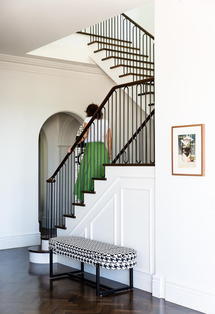 The redesigned stairwell creates a more expansive ground floor.