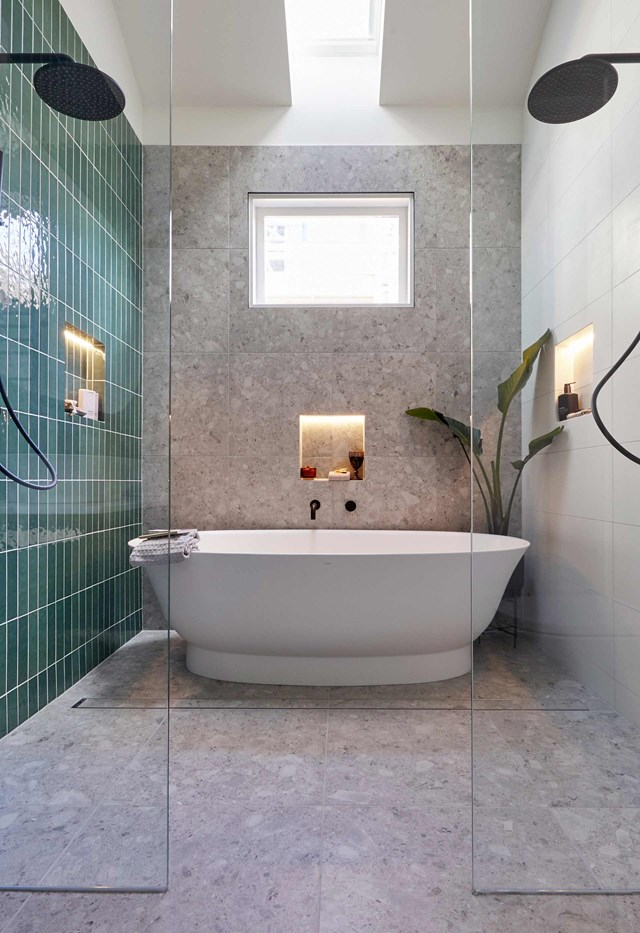 """**Harry and Tash: House 1**<br> [Harry and Tash's](https://www.homestolove.com.au/harry-and-tash-the-block-2020-21736