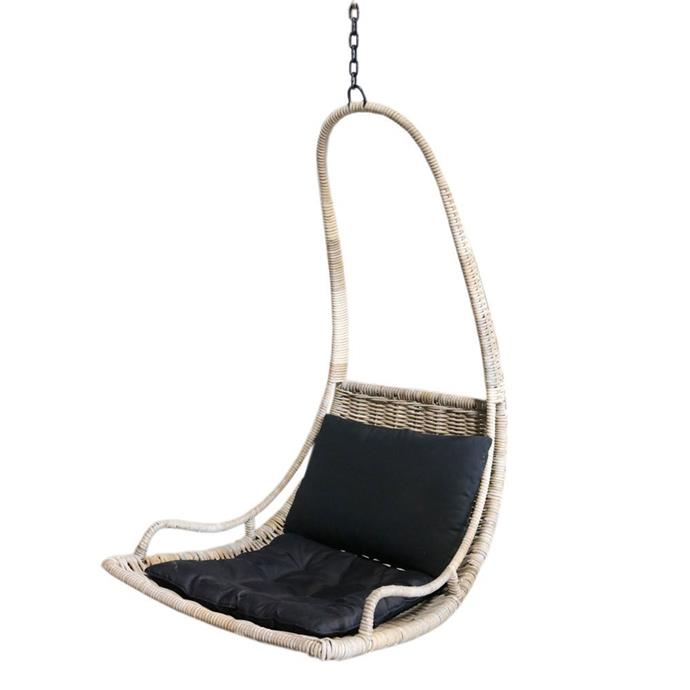 """Diego Hanging Chair, $449, [Rattan Revival](https://www.rattanrevival.com.au/product/diego-rattan-hanging-chair/