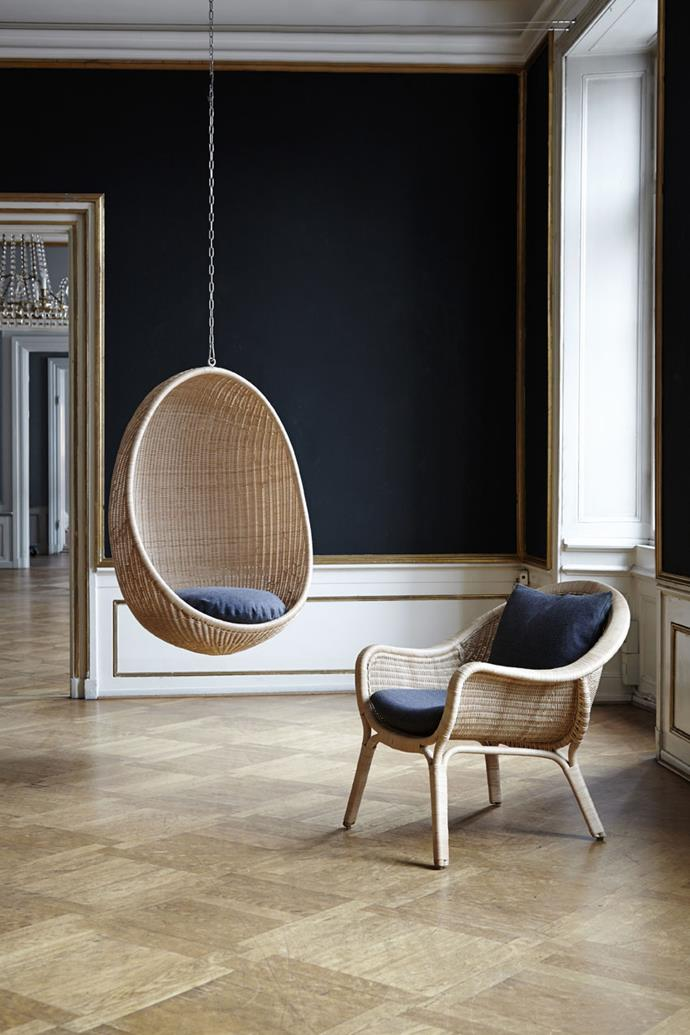 "Sika Design Hanging Egg Chair, $3,150, [Domo](https://www.domo.com.au/product/hanging-egg-chair/|target=""_blank""