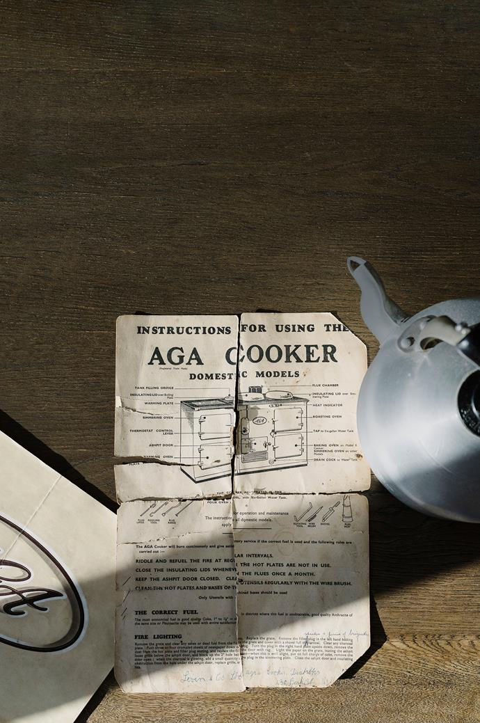 Old instructions for an AGA cooker.