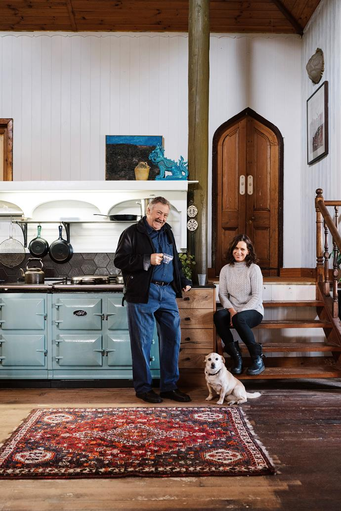 John Jenkin with Simone Blamey, the owner of AGA Australia and her dog Didier.