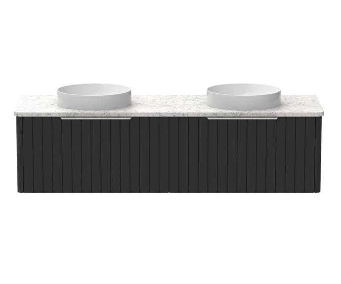 "Kado Neue All-Drawer Wall Hung vanity with Caesarstone top, $3609, [Reece](https://www.reece.com.au/product/kado-neue-all-drawer-1500-double-bowl-wall-hung-2351471|target=""_blank""|rel=""nofollow"")"