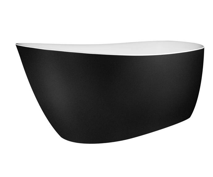 "Kado Neue Freestanding Bath 1730 x 780 x 730mm in Matte White/ Matte Black, $2240, [Reece](https://www.reece.com.au/product/kado-neue-freestanding-bath-1730-x-780-x-730mm-9508197|target=""_blank""|rel=""nofollow"")"