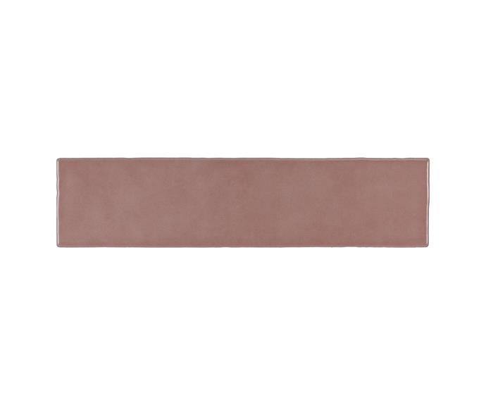 "Atmosphere Pink Gloss Structured tile, $54.45, per sq/m, [Beaumont Tiles](https://www.beaumont-tiles.com.au/product/tile/1210260|target=""_blank""|rel=""nofollow"")"