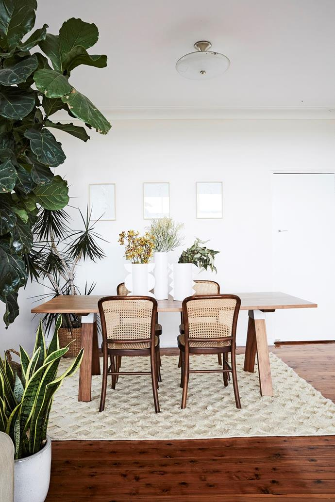 "[Indoor plants](https://www.homestolove.com.au/indoor-plant-trends-2021-21518|target=""_blank"") and vintage rattan chairs take pride of place in [jewellery designer Holly Ryan's minimalist boho home](https://www.homestolove.com.au/jewellery-designer-holly-ryans-sydney-home-6569