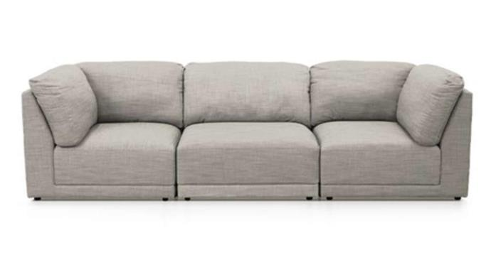 "Amelia Sea Pearl modular sofa, from $600 per piece, [James Lane](https://www.jameslane.com.au/amelia-sea-pearl-3-piece-sofa-|target=""_blank""