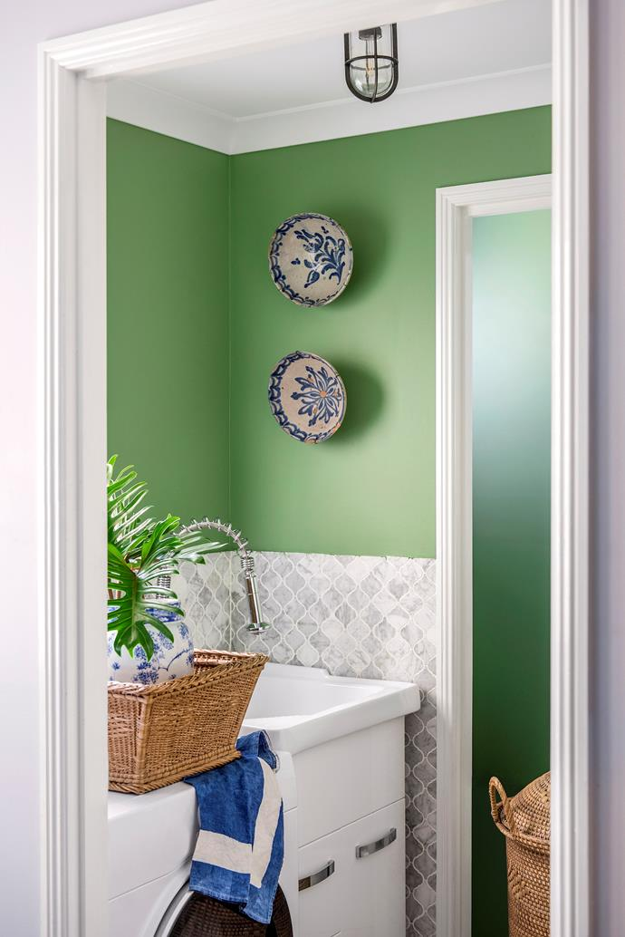 A laundry room allows you to a have a bit of fun with colour.