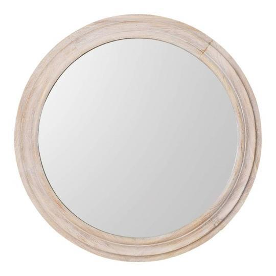 "Round Timber Wall Mirror 110 cm, $429, [Hamptons Home](https://hamptonshome.com.au/collections/new-arrivals/products/round-timber-wall-mirror-110-cm|target=""_blank""