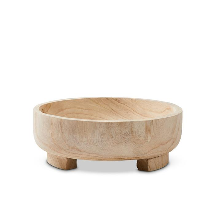 """Make your summer salads the centrepiece of the table by serving them in a standout bowl like this. <br><br>Home Republic Jasper Natural Timber Bowl, $39.99, [Adairs](https://www.adairs.com.au/homewares/tableware/home-republic/jasper-natural-timber-bowl/ target=""""_blank"""" rel=""""nofollow"""")"""
