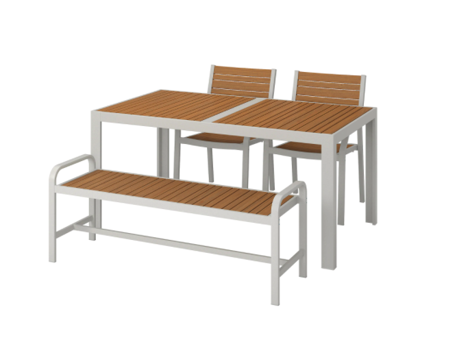 """An outdoor dining table and chairs is a must for summer. Choose a table large enough to host your family and guests. Bench seats are a versatile choice as you can always squish an extra person on if needed.  <br><br>SJÄLLAND Table, chairs + bench, $639, [IKEA](https://www.ikea.com/au/en/p/sjaelland-table-2-chairs-bench-outdoor-light-brown-light-grey-s79265158/ target=""""_blank"""" rel=""""nofollow"""")"""
