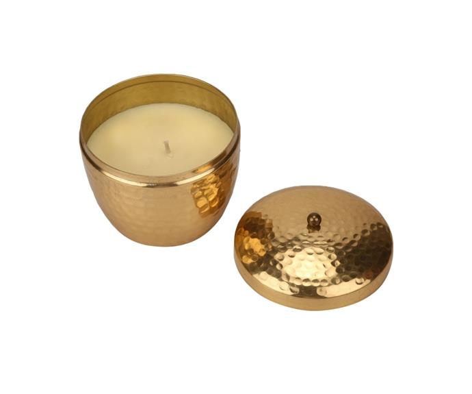 """Citronella candles are a must when entertaining outdoors in summer. This stylish candles will elevate your table setting while keeping the mosquitoes at bay!  <br><br>Citronella Candle in a Pot, $6, [Kmart](https://www.kmart.com.au/product/citronella-candle-in-a-pot/2688332 target=""""_blank"""" rel=""""nofollow"""")"""