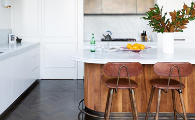 11 kitchen island benches wrapped in timber