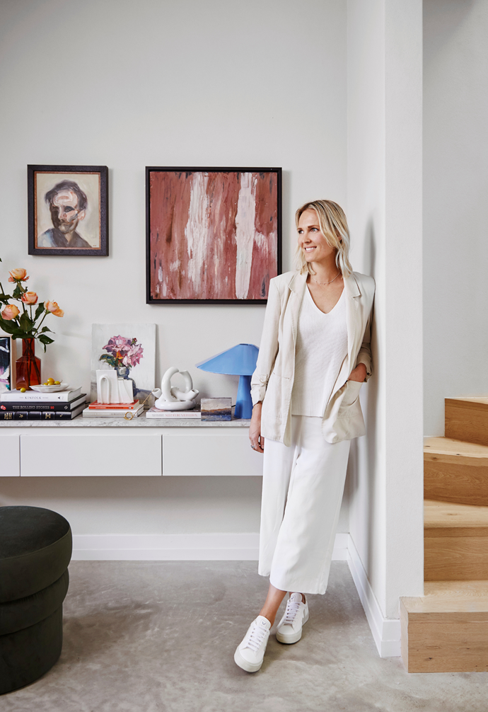 """I love the softness of the clay-rendered walls against the [natural light](https://www.homestolove.com.au/how-to-increase-natural-light-in-home-15836