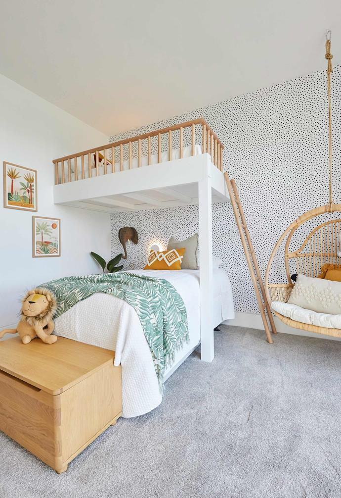 Luke and Jasmin drew inspiration from The Designory's Barefoot Bay Villa in the creation of their kid's room.