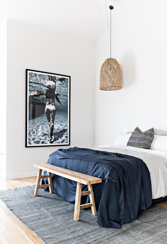 """One of the guest bedrooms in [The Pause by Soul Home](https://www.homestolove.com.au/the-pause-gerringong-21792