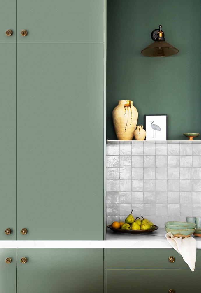 """**Kitchen** The Green Slate cabinetry is by [Freedom Kitchens](https://freedomkitchens.com.au/
