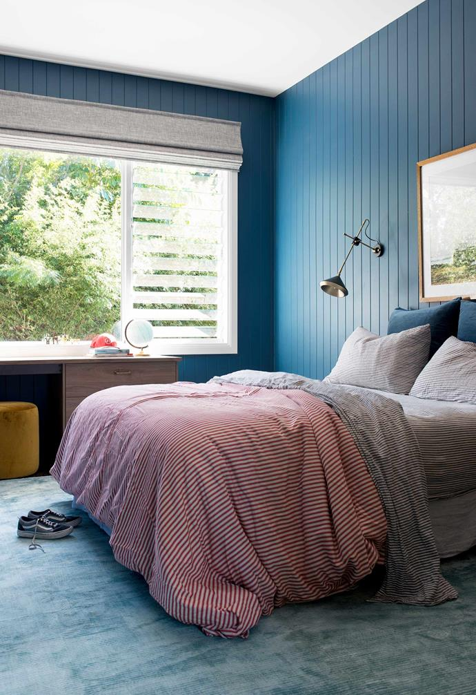 """**Children's rooms** Both are clad in textured EasyVJ panelling from [Easycraft](https://www.easycraft.com.au/