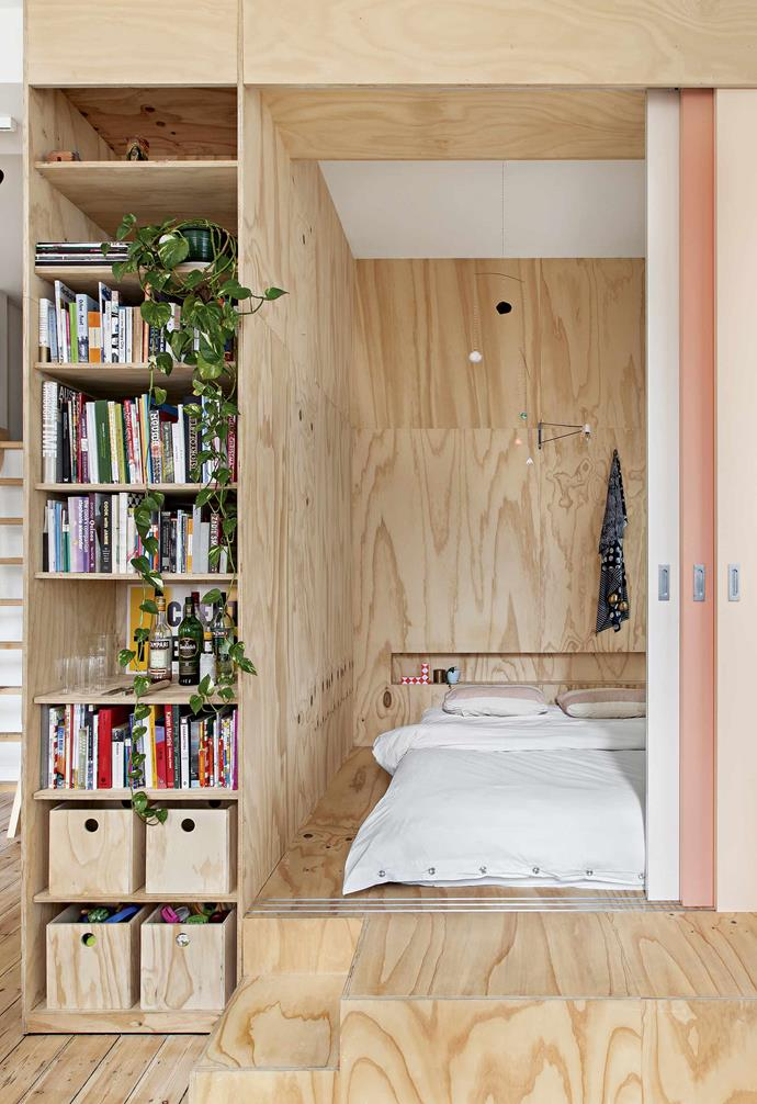 """**Sleep tight** Faced with the need to create a sleeping space for their daughter, and inspired by compact Japanese homes, owners Dan and Paul opted for two 'micro' bedrooms created out of the existing bedroom, with the help of architect [Clare Cousins](https://clarecousins.com.au/
