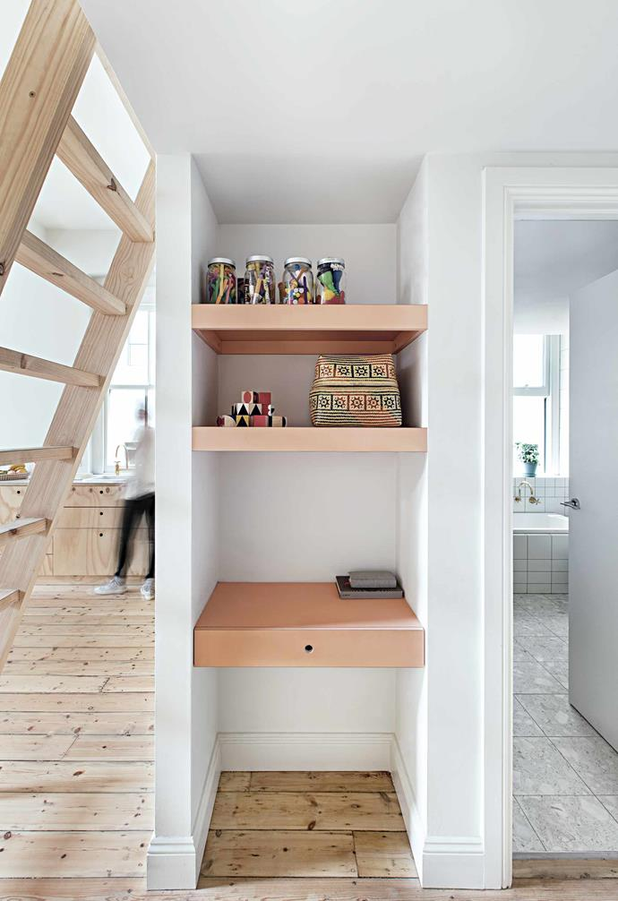 """**Straight to work** [A compact workstation is built into a nook](https://www.homestolove.com.au/12-creative-ways-to-create-a-study-nook-in-your-home-17963