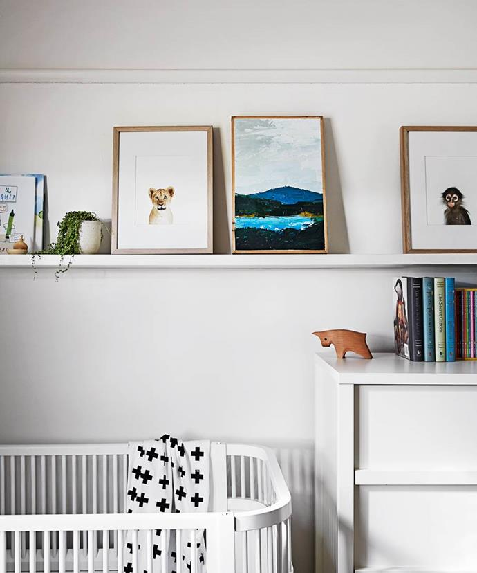 "In interior designer [Rhiannon Farmer's Melbourne home](https://www.homestolove.com.au/gallery-matt-and-rhiannons-mid-century-modern-home-1966|target=""_blank""), Bobby's room was decorated with a shelf which allows her to change up the display often, and provides practical storage for adorable children's books."