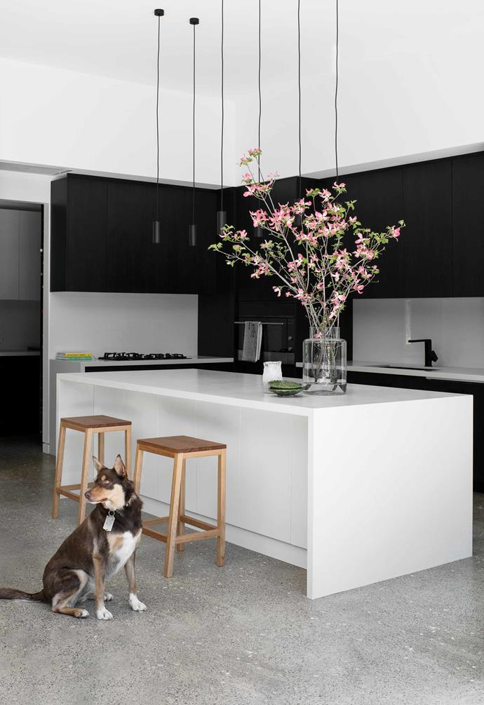 **Kitchen** The restrained palette is brought to life by natural materials and warm tones, but it's the thoughtful floor plan that really delivers, giving everyone a private place as well as spaces to stay connected.