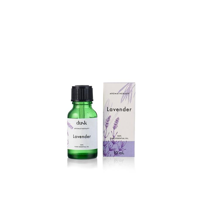 "Lavendar pure essential oil 10ml, $19.99, [Dusk](https://www.dusk.com.au/products/pure-essential-oil-lavender|target=""_blank""