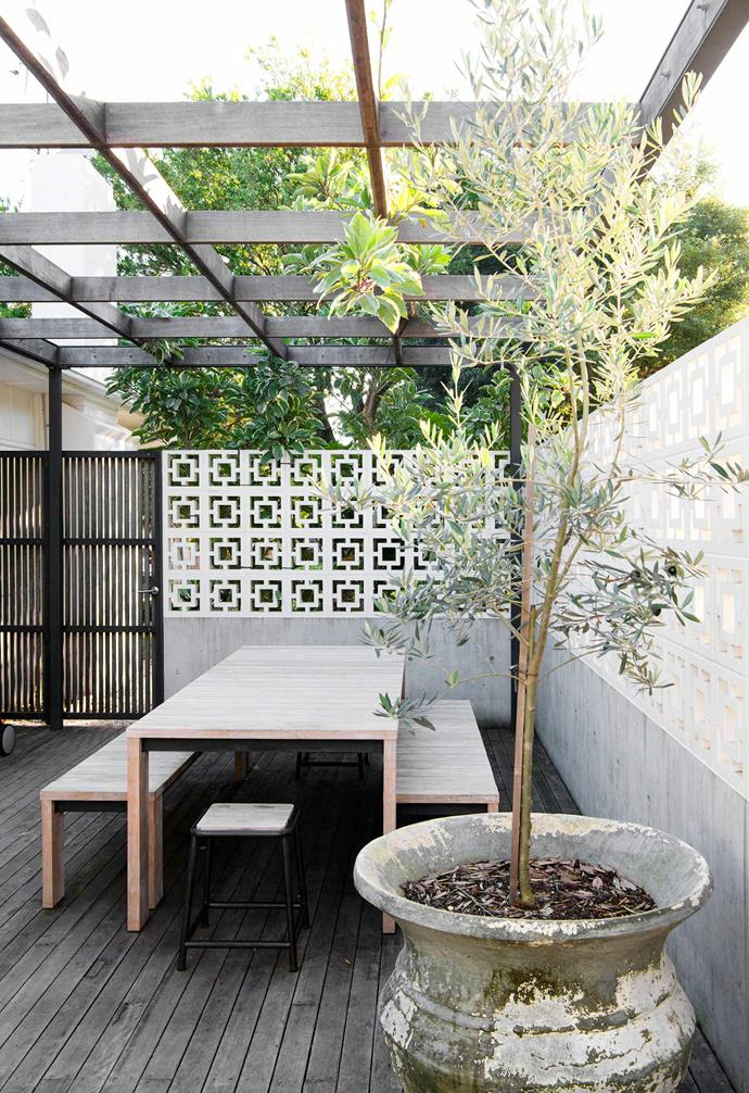 """A Bronte outdoor table and bench [Eco Outdoor](https://www.ecooutdoor.com.au/