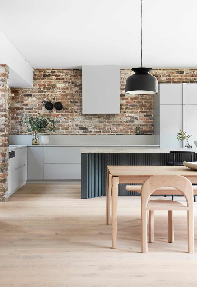"**Kitchen/dining** Wollongong Blend recycled bricks from [The Brick Pit](https://thebrickpit.com.au/|target=""_blank""