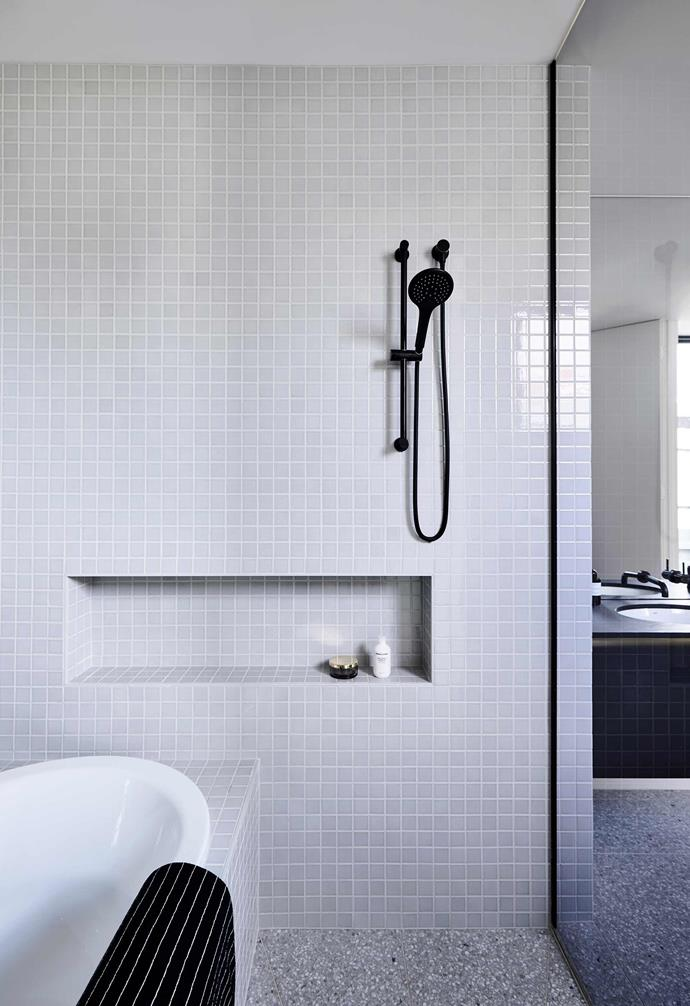 **Practical sense** A thoughtfully designed bathroom with attractive shelving and/or a niche opening to stow beauty products, shampoos and conditioners will always present well.