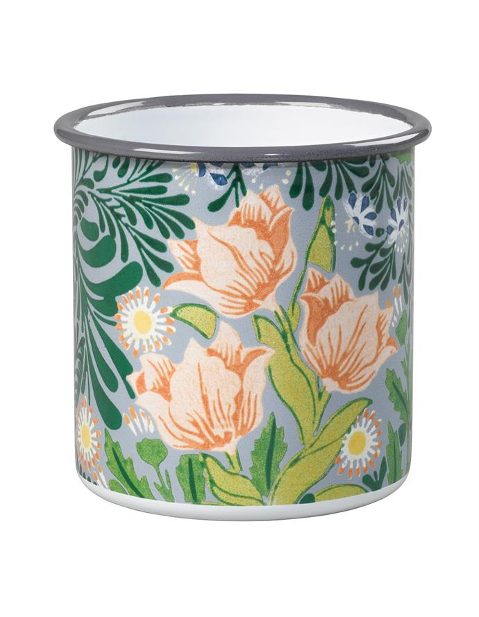 "Victoria & Albert Small Enamel Pot by William Morris, $29.95, [David Jones](https://www.davidjones.com/Product/22244904/Sml-Enamel-Pot--William-Morris target=""_blank"" rel=""nofollow"")."