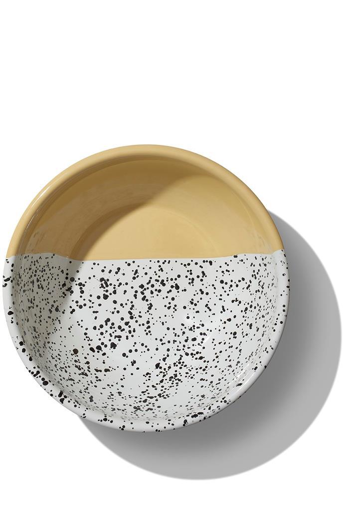 "Enamel Salad Serving Bowls, $65, [The Dancing Pixie](https://thedancingpixie.com.au/online/tableware/shop-by-range/mind-pop/bowls-mind-pop/enamel-salad-serving-bowl/ target=""_blank"" rel=""nofollow"")"