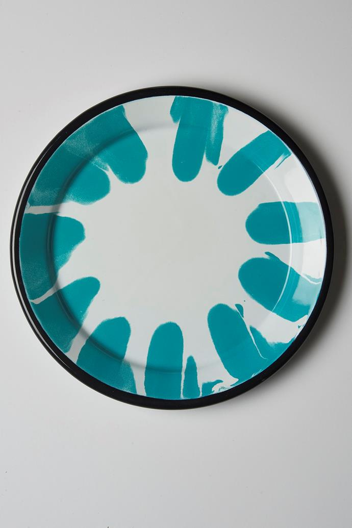 "Enamel dinner plates, $35, [The Dancing Pixie](https://thedancingpixie.com.au/online/tableware/shop-by-range/a-little-colour/plates-a-little-colour/enamel-dinner-plates/|target=""_blank""
