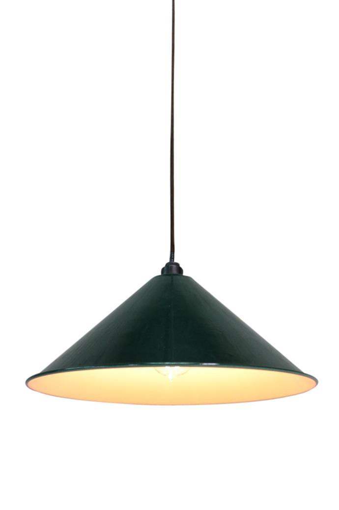 Fat Shack Vintage Warehouse Enamel Pendant Light, $109, Temple & Webster