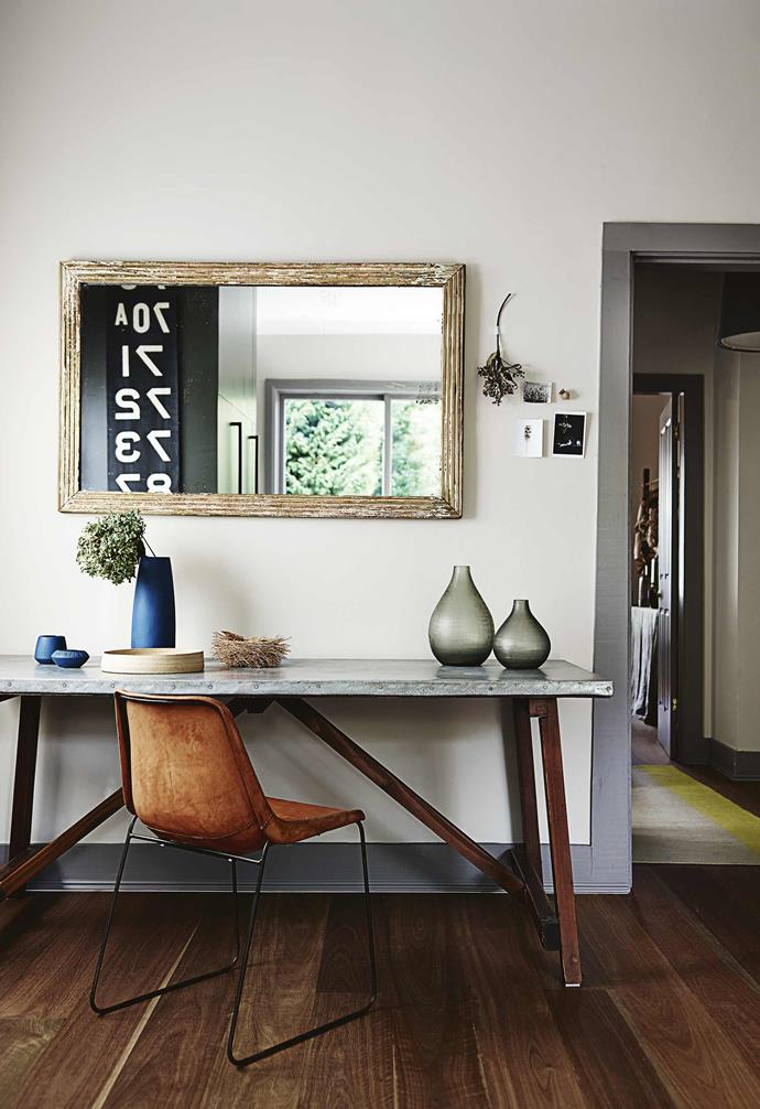 **Study** A wall-hung mirror helps to maximise natural light and a sense of space.