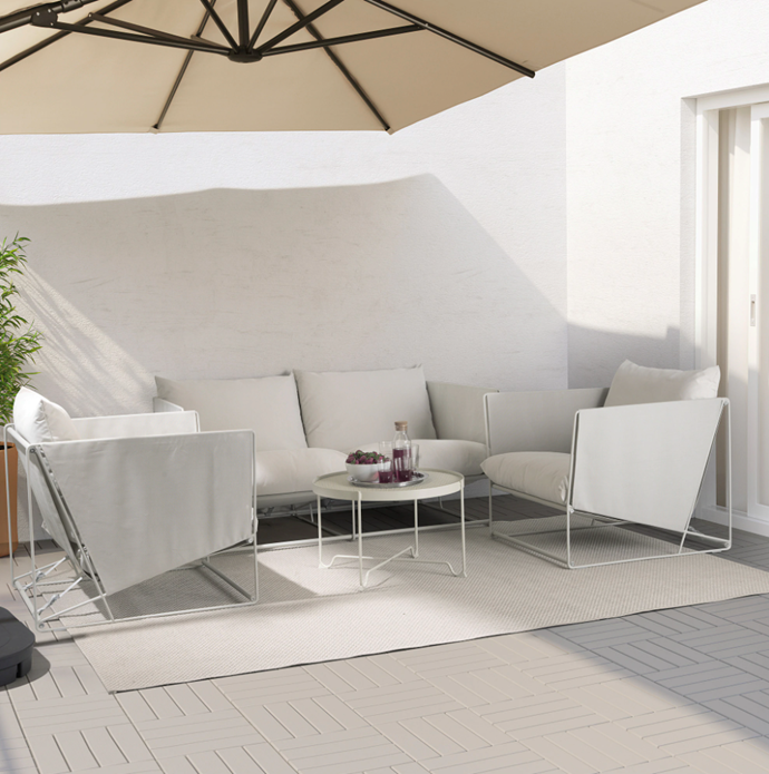 """**HAVSTEN 4-seat conversation set in Beige, $1559, [IKEA](https://www.ikea.com/au/en/p/havsten-4-seat-conversation-set-in-outdoor-beige-s19251989/