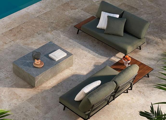 "King Cove outdoor living set, POA, [King Living](https://www.kingliving.com.au/furniture/outdoor-furniture/king-cove|target=""_blank""