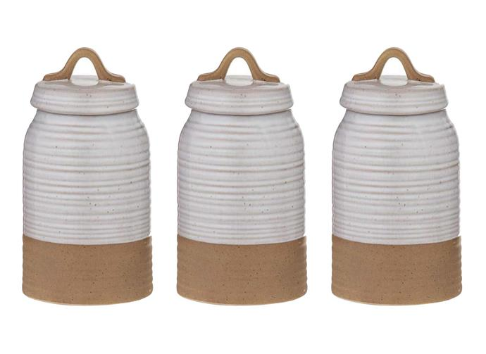 """Belgrave set of 3 canisters, $59, [Freedom](https://www.freedom.com.au/dining-kitchen/kitchen-items/all-kitchen-items/24243582/belgrave-set-of-3-canister-white