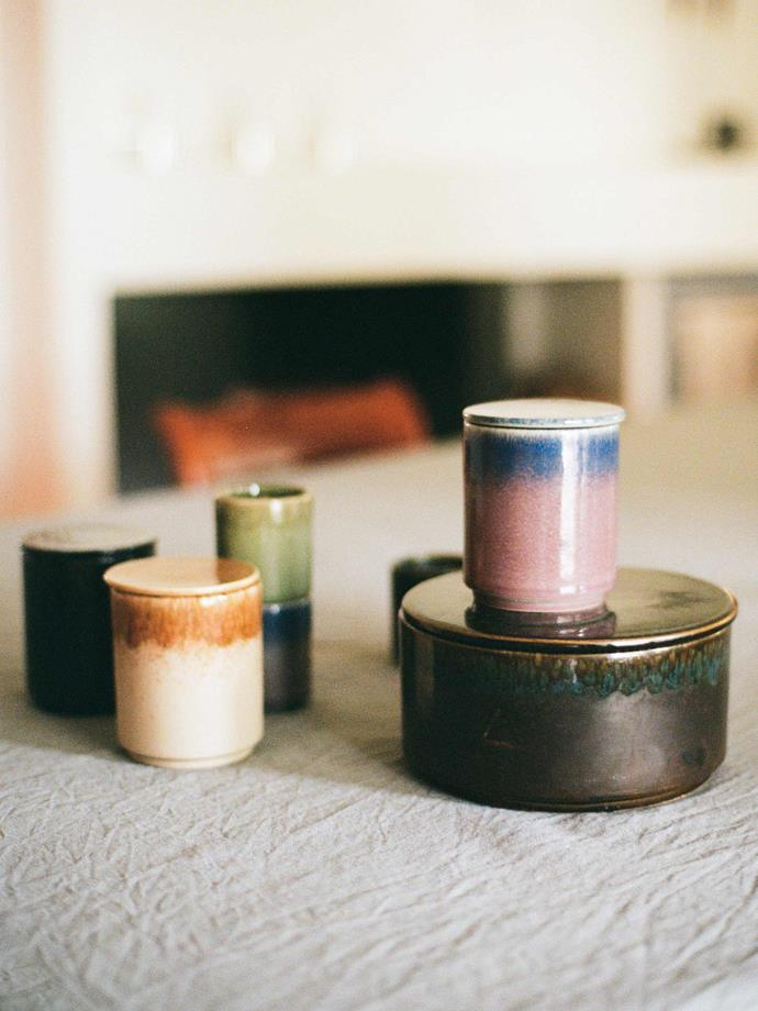 Each vessel features different colours that are inspired by key fragrant notes in each scent.
