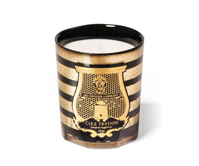 "Limited-edition Balmain candle by Cire Trudon, from $229, [Libertine Parfumerie](https://www.libertineparfumerie.com.au/product/balmain-ernesto/|target=""_blank""