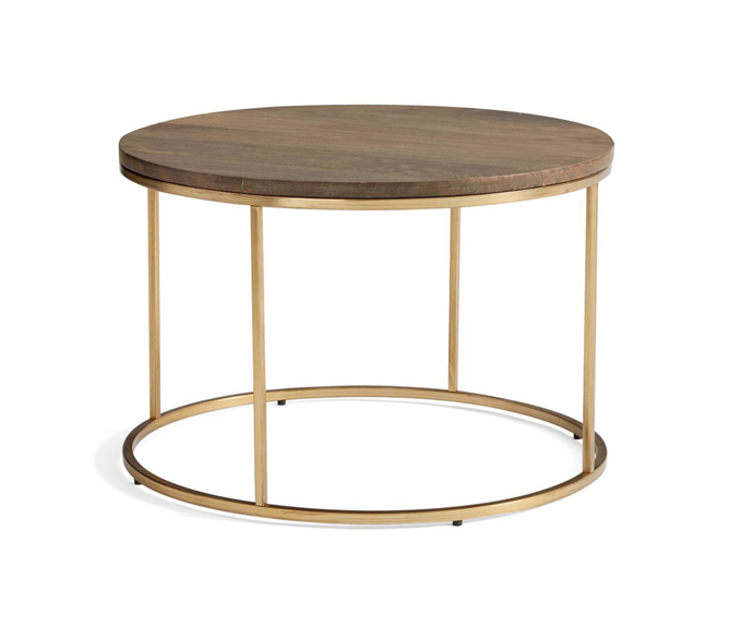 """Delaney Round Coffee Table, $499, [Pottery Barn](https://www.potterybarn.com.au/delaney-round-coffee-table