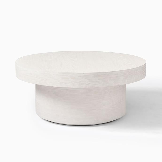 """Volume Round Pedestal Coffee Table - Wood, $679, [West Elm](https://www.westelm.com.au/volume-round-pedestal-coffee-table-wood-h6048
