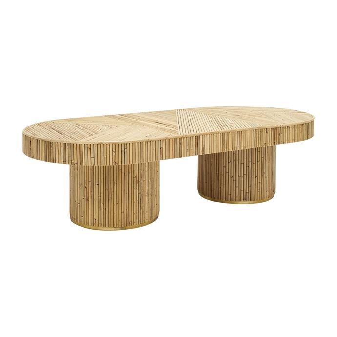 "Paloma Coffee Table by Sarah Ellison, $1,695, [Life Interiors](https://www.lifeinteriors.com.au/sarah-ellison-paloma-coffee-table?gclid=CjwKCAjwz6_8BRBkEiwA3p02VfsmUDeYbUB0ym7sRcj2PPj2GMyIPkLg49QCmEs9FyMNBSVjFTwyGxoCUGoQAvD_BwE|target=""_blank""|rel=""nofollow"")"