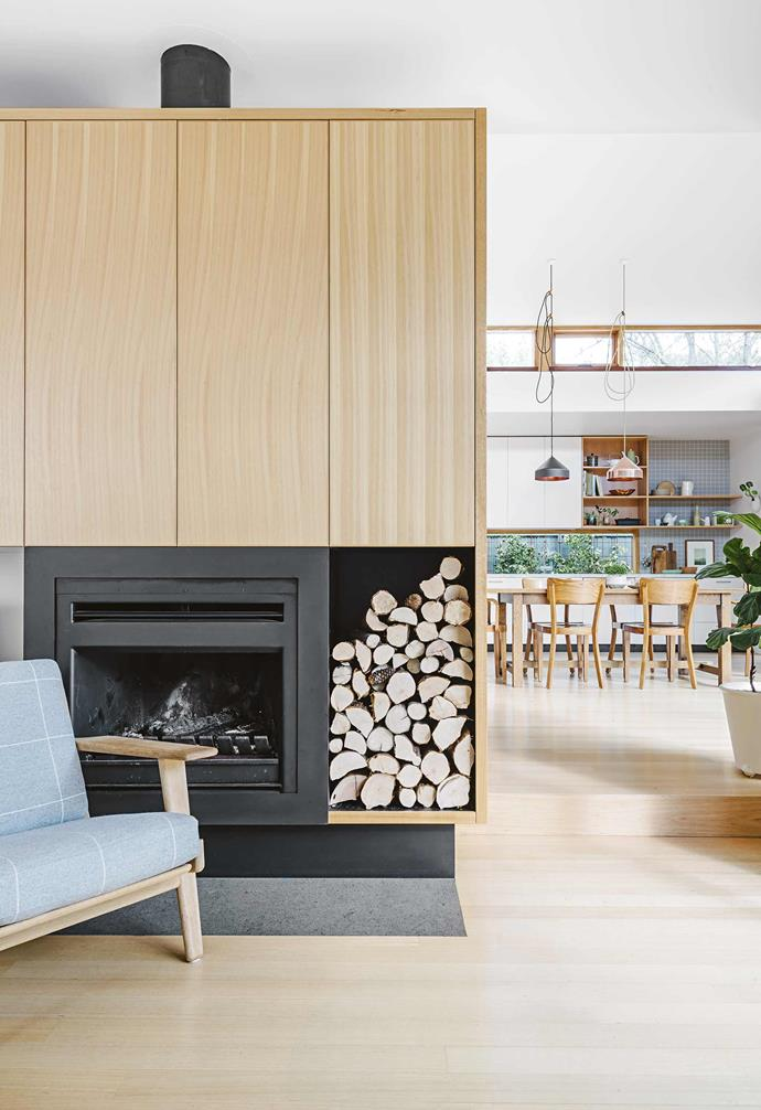 "The couple don't mind when their new Victorian ash timber floor is scratched or the Carrara [marble benchtop gets stained](https://www.homestolove.com.au/how-to-clean-marble-benchtops-3745|target=""_blank"") – the kids can touch whatever they like. Feet on the [Jardan](https://www.jardan.com.au/