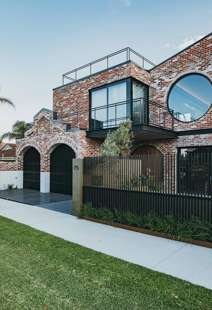 """The facade of this [industrial-style home in Perth](https://www.homestolove.com.au/brick-house-perth-19916
