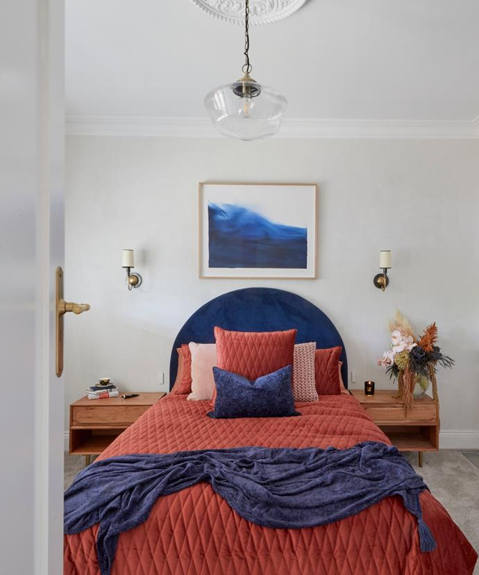 """**Week 1, Guest Bedroom** While Darren and Neale agreed that Luke and Jasmin had delivered a beautiful and accomplished [guest bedroom](https://www.homestolove.com.au/the-block-2020-guest-bedroom-reveals-21780